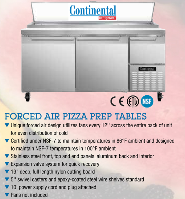 continental_forced_air_pizza_prep_table